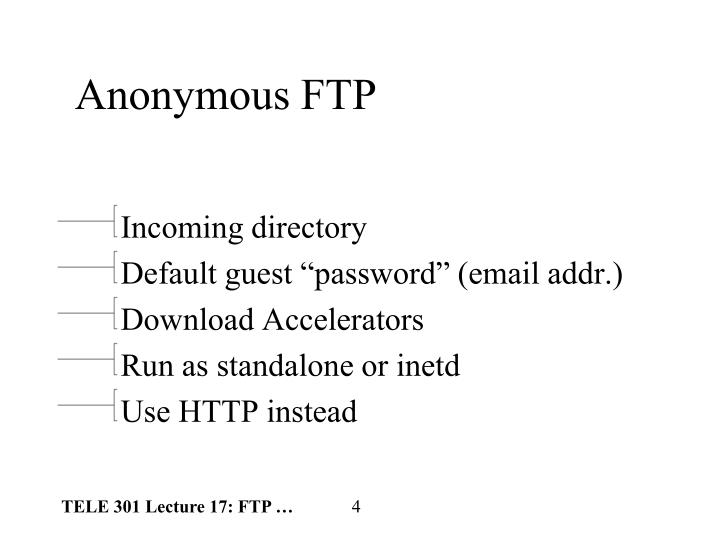 Anonymous FTP