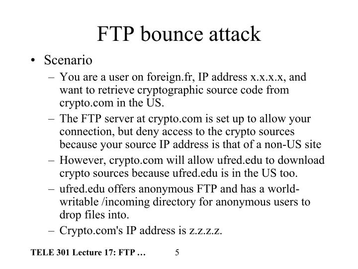 FTP bounce attack