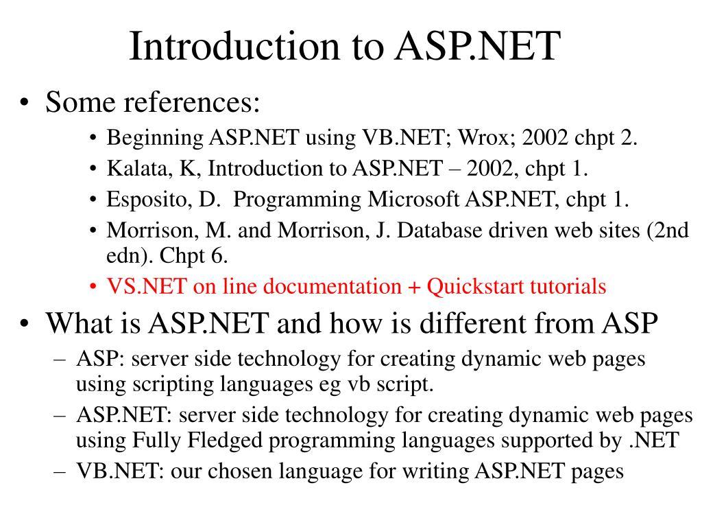 Asp. Net basics ppt.