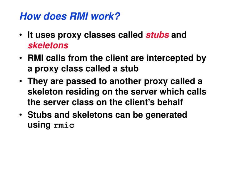 How does RMI work?