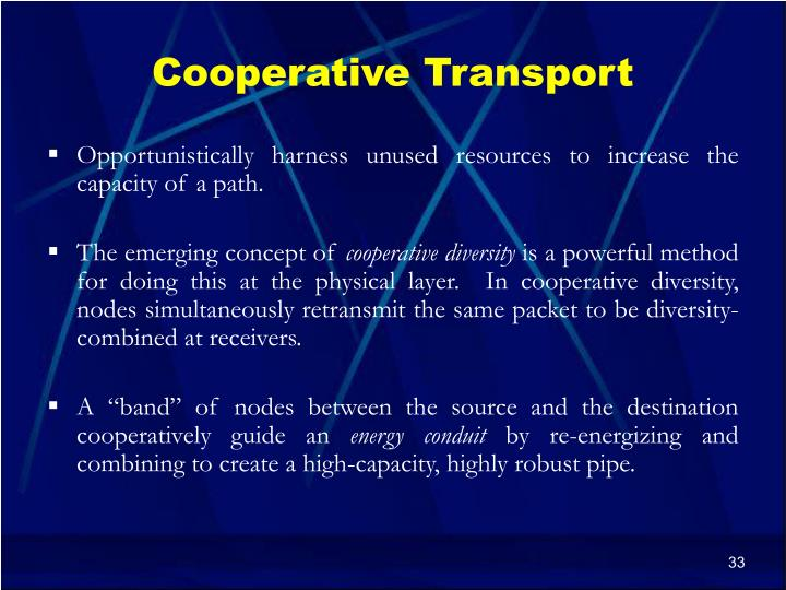 Cooperative Transport