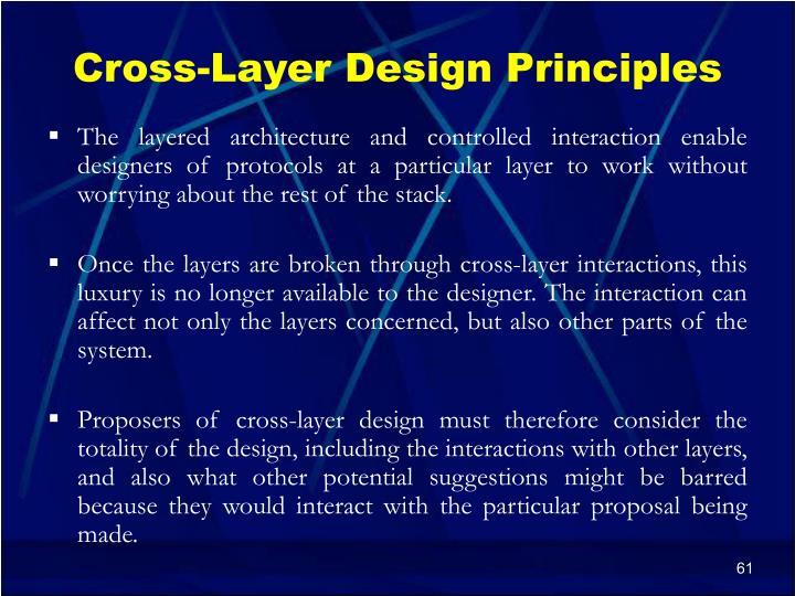Cross-Layer Design Principles