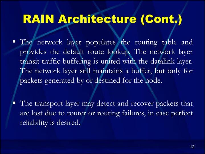 RAIN Architecture (Cont.)