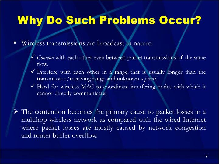 Why Do Such Problems Occur?