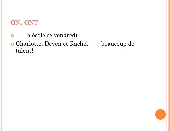 on, ont