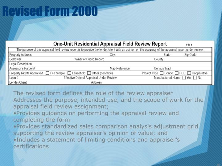Revised Form 2000