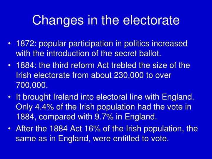 Changes in the electorate