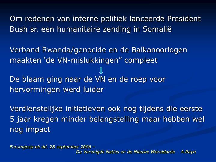 Forumgesprek dd 28 september 2006 de verenigde naties en de nieuwe wereldorde a reyn1