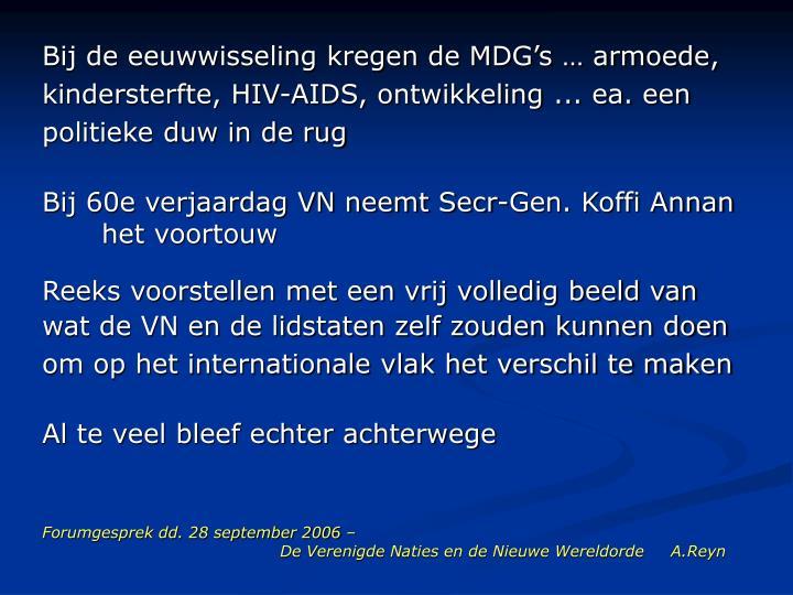 Forumgesprek dd 28 september 2006 de verenigde naties en de nieuwe wereldorde a reyn2