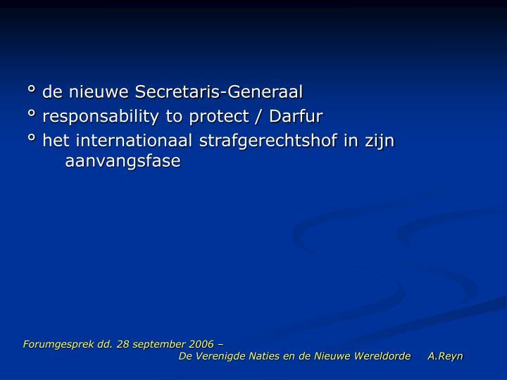 Forumgesprek dd. 28 september 2006 –