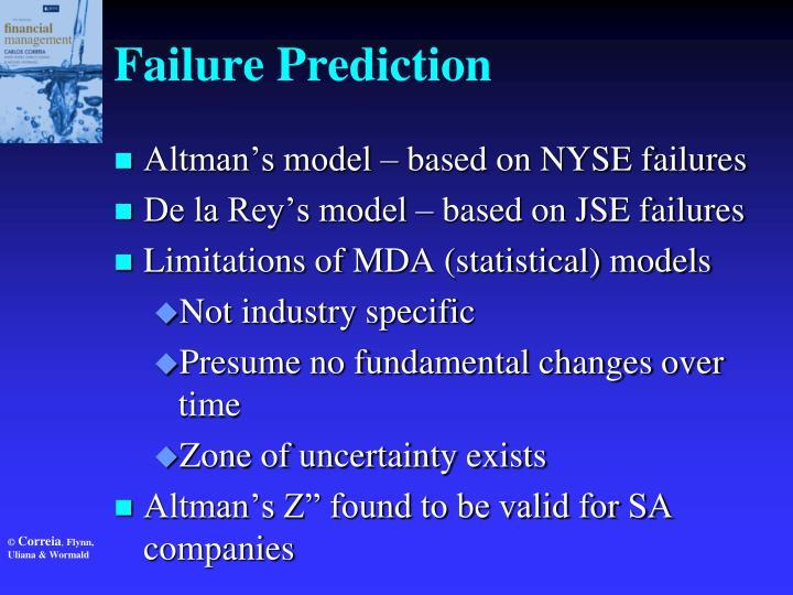 Failure Prediction