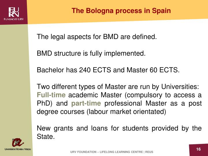 The Bologna process in Spain