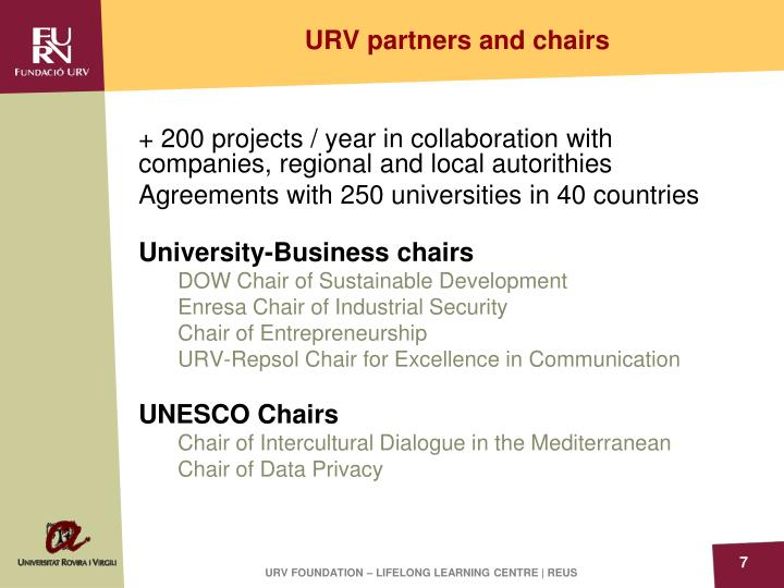 URV partners and chairs