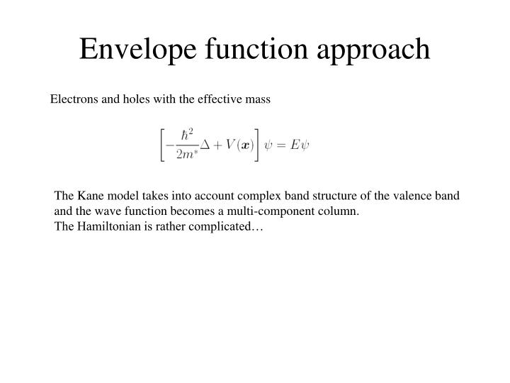 Envelope function approach