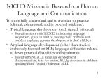 nichd mission in research on human language and communication