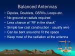 balanced antennas
