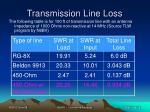 transmission line loss