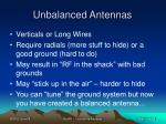 unbalanced antennas