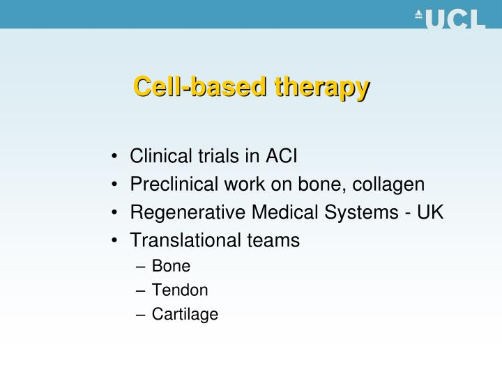 Cell-based therapy