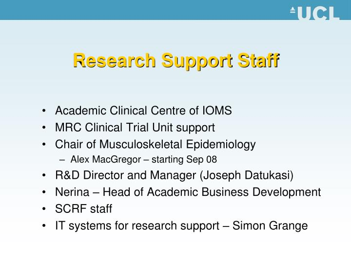Research Support Staff