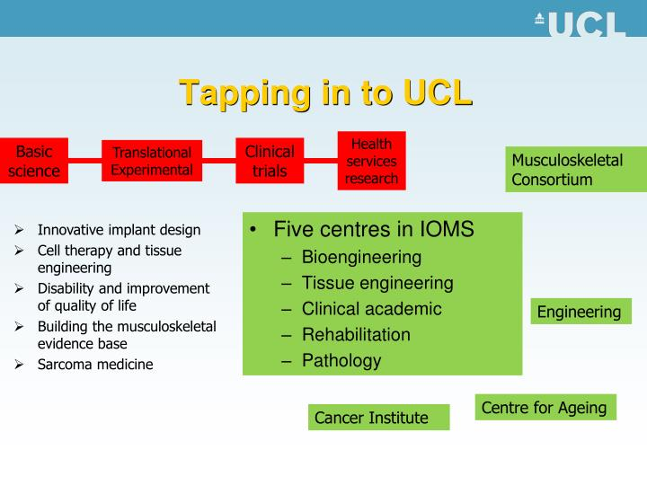 Tapping in to UCL