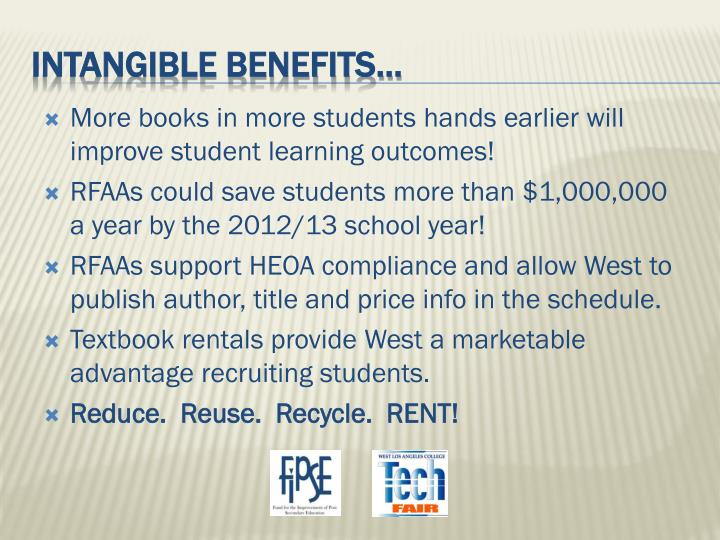 More books in more students hands earlier will improve student learning outcomes!