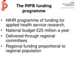 the rfpb funding programme