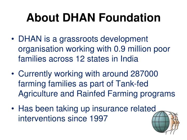 About dhan foundation