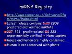 mirna registry