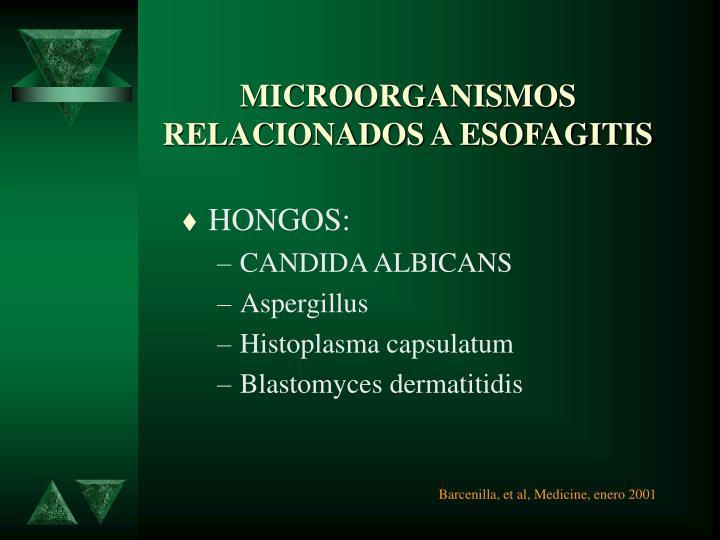 MICROORGANISMOS RELACIONADOS A ESOFAGITIS