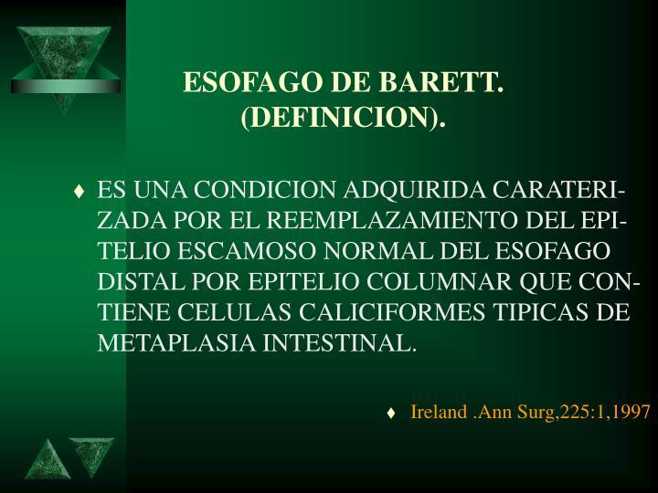 ESOFAGO DE BARETT.
