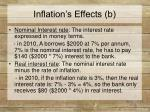 inflation s effects b