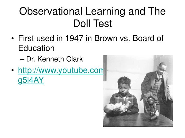 Observational Learning and The Doll Test