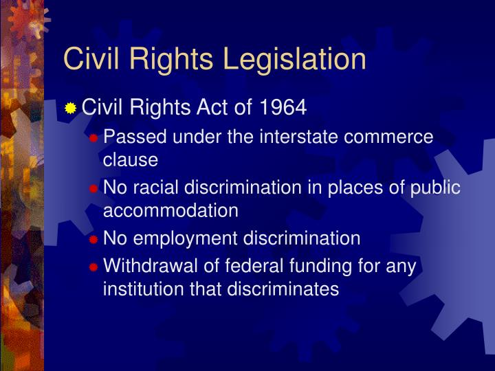 civil rights discrimination California state and federal civil rights laws prohibit discrimination against any person on the discrimination or interference with a person's civil rights by another, gives rise to an action for.