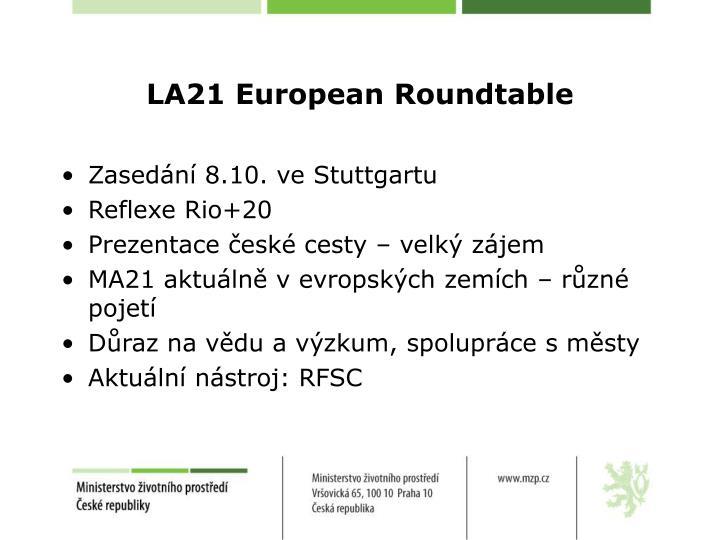 LA21 European Roundtable