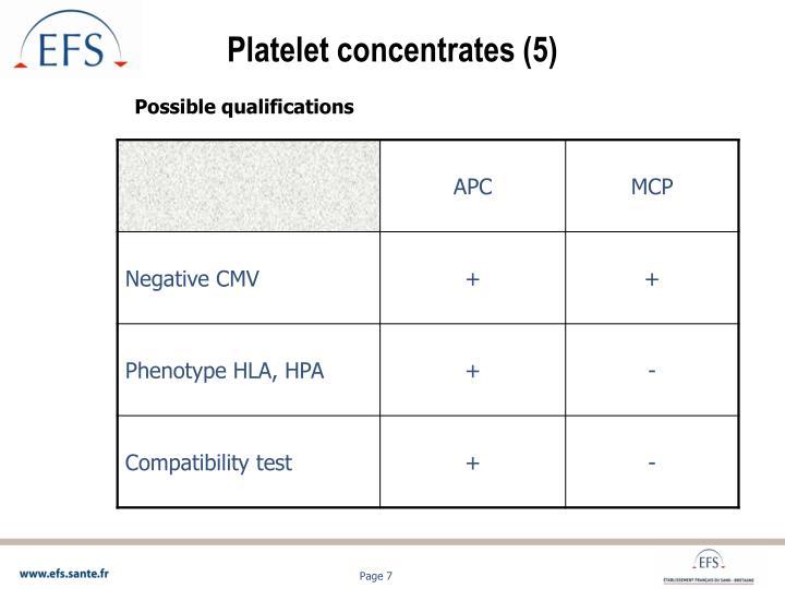 Platelet concentrates (5)