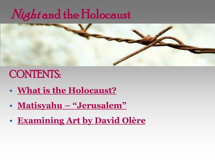 night and the holocaust n.