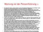 warnung vor der personifizierung 3 3