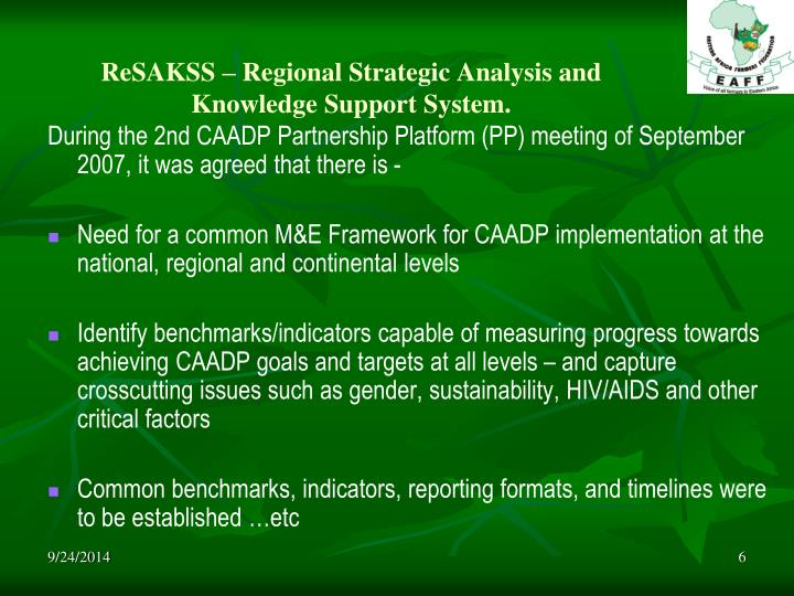 ReSAKSS – Regional Strategic Analysis and Knowledge Support System.