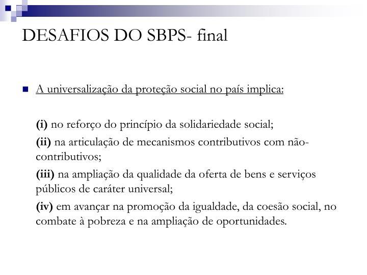 DESAFIOS DO SBPS- final