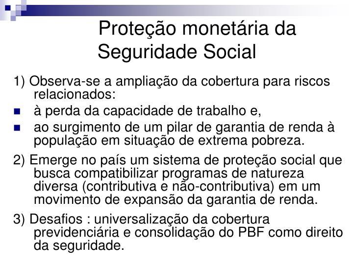 Proteção monetária da Seguridade Social