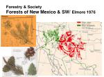 forestry society forests of new mexico sw elmore 19761