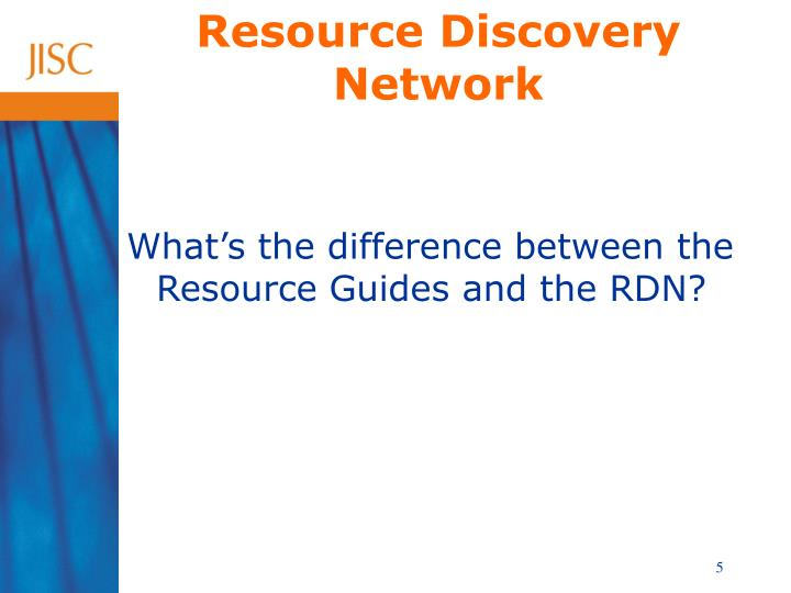 Resource Discovery Network