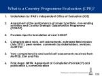 what is a country programme evaluation cpe