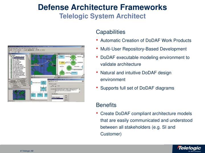 Defense Architecture Frameworks