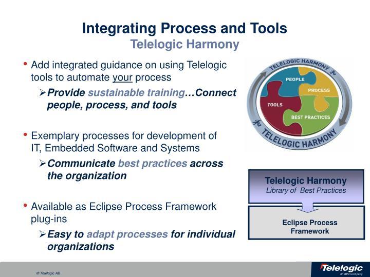Integrating Process and Tools
