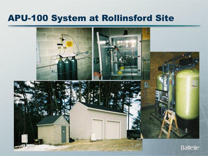 APU-100 System at Rollinsford Site