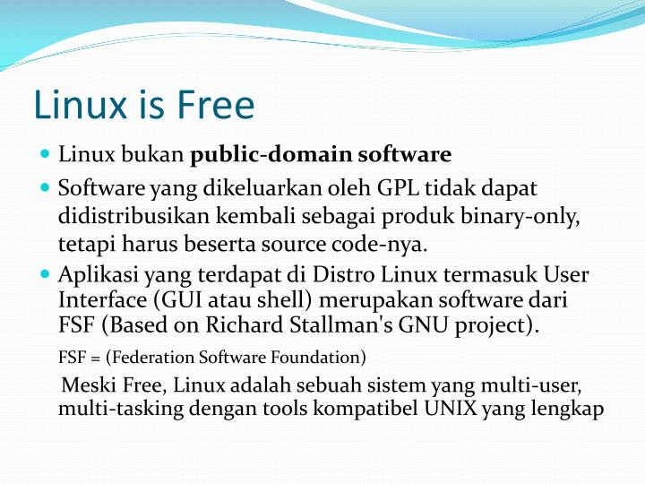 Linux is Free