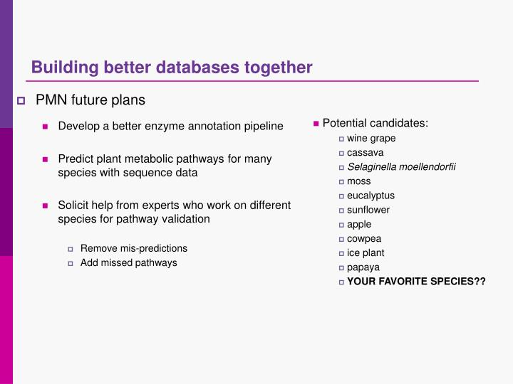Building better databases together