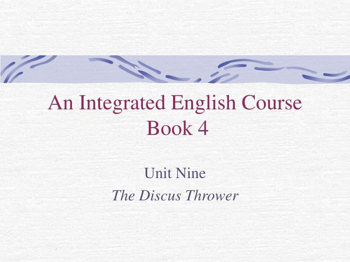 an integrated english course book 4 n.